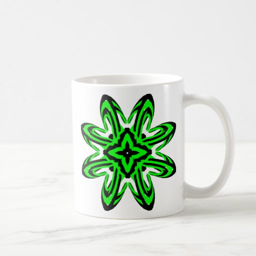 2 Green Transparent Mug