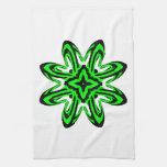 2 Green Transparent Towels