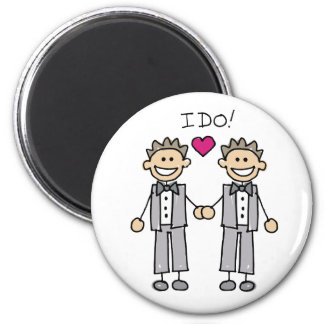 2 Grooms 2 Inch Round Magnet