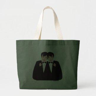 groom groom tote bag
