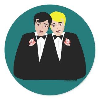 gay wedding stickers