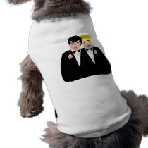 2 Grooms (Blonde and Black Hair) T-Shirt