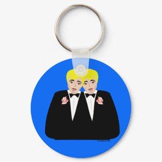 2 Grooms Blonde keychain