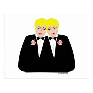 2 Grooms Blonde Post Cards