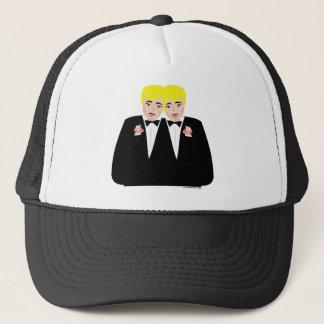 2 Grooms Blonde Trucker Hat