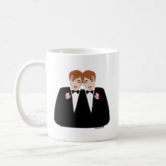 2 Grooms Brown Hair Coffee Mug