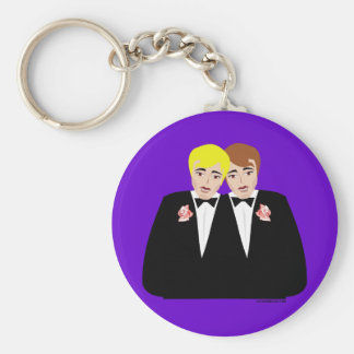 2 Grooms (Brown-Haired and Blonde) Key Chains