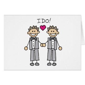 2 Grooms Greeting Card