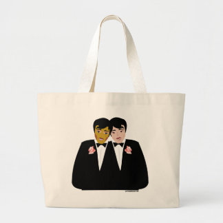 2 Grooms (Ethnic and Black-Haired) Tote Bags