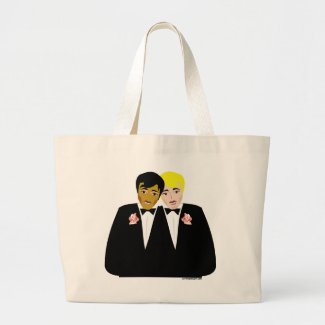 two grooms tote bag