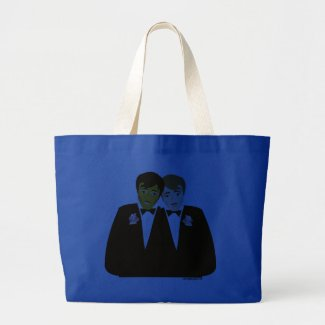 2 grooms tote bag