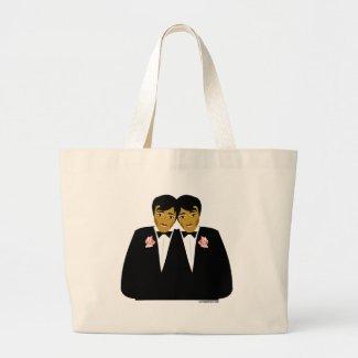 gay groom tote bag