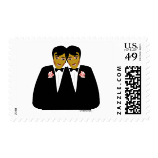 2 Grooms Ethnic Stamp