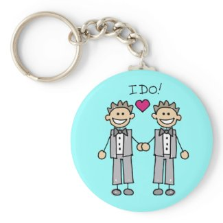 two grooms keychain
