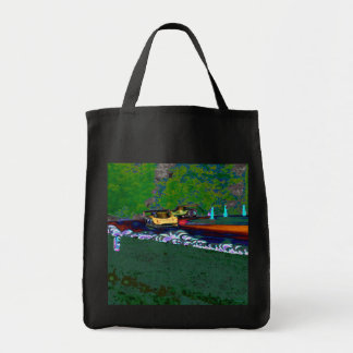 2 GTP Cars Hurtle Around Lime Rock Tote Bag