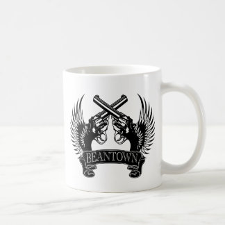 2 guns up Beantown Coffee Mug