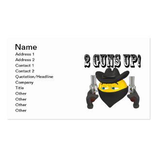 2 Guns Up Business Card Templates