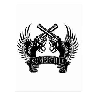 2 guns up Somerville Postcard