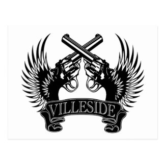 2 guns up VilleSide Postcard