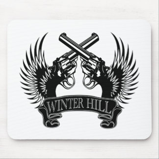 2 guns up Winter Hill Mouse Pad