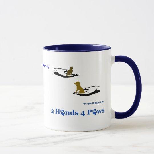 2 Hands 4 Paws Coffee Mug