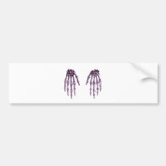2 Hands Down Purple Bumper Sticker