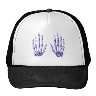 2 Hands Up Blue Trucker Hat
