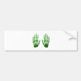 2 Hands Up Deep Green Bumper Sticker