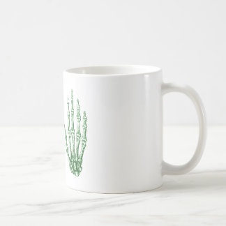 2 Hands Up Green Coffee Mug