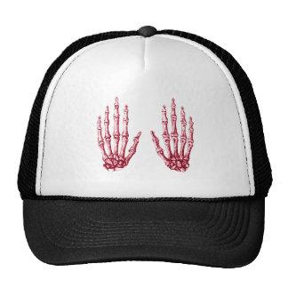 2 Hands Up Red Trucker Hat