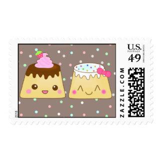 2 happy flans! postage