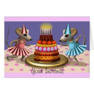 2 Happy Mice Invitation