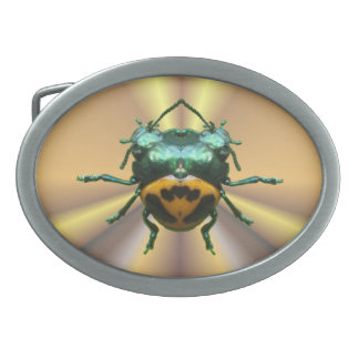 2 Head Beetle ~ Buckle Oval Belt Buckle