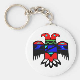 2 Head Thunderbird Basic Round Button Keychain