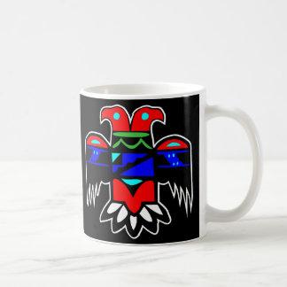 2 Head Thunderbird Black Coffee Mug