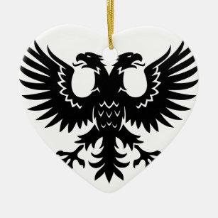 2 Headed Eagle Ceramic Ornament