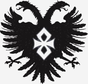 2 Headed Eagle Crest AEnigma Graphic Design T Shirt