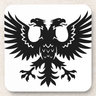 2 Headed Eagle Drink Coaster