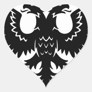 2 headed eagle heart sticker