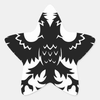 2 headed eagle star sticker