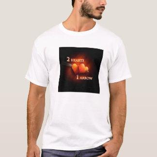 2 hearts & 1 arrow - T-shirt