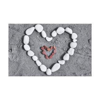 2 Hearts 1 Love Canvas Print