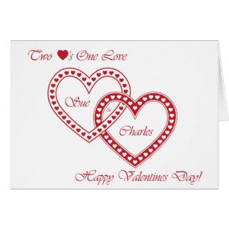 2 hearts 1 love card