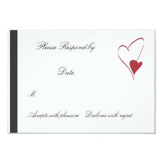 2 Hearts Collide matching wedding rsvp Card
