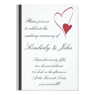 2 Hearts Collide Wedding Invitation
