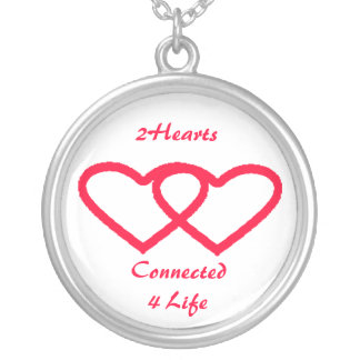 2 Hearts Connected 4 Life Necklace