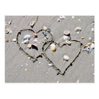 2 HEARTS, HEART TO HEART, LOTS OF LOVE POSTCARD
