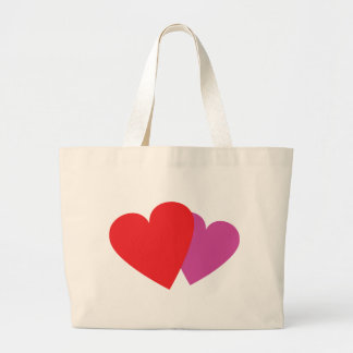 2 hearts icon bags