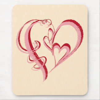 2 HEARTS IN 1 MOUSE PAD