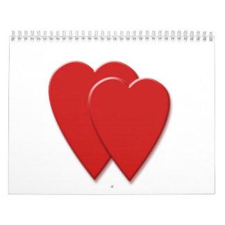 2 Hearts (Just Love) Wall Calendars